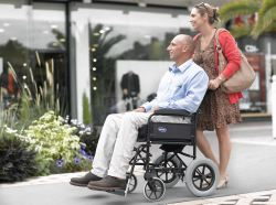 Picture of wheel chair user out and about